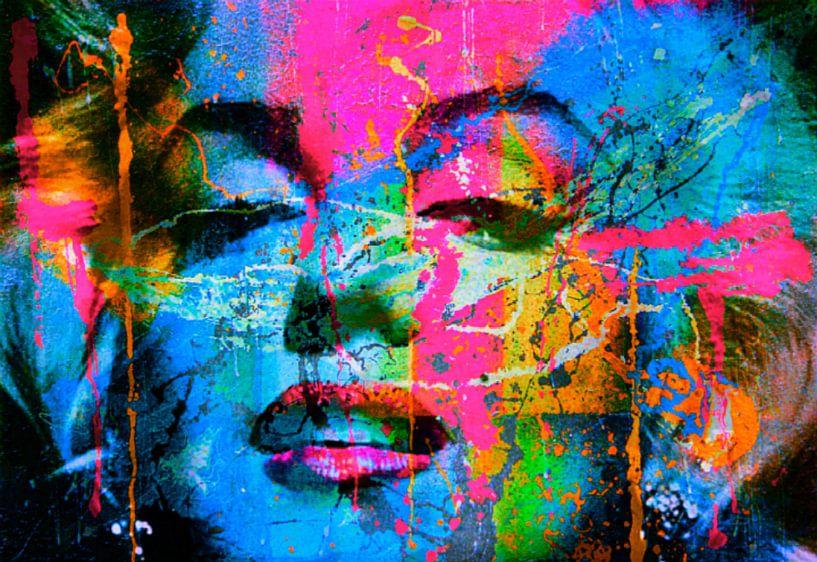 Marilyn Monroe Collage Pop Art PUR 1 von Felix von Altersheim