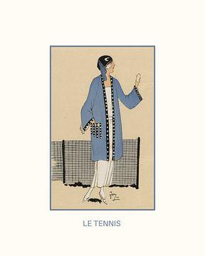 Tennis | Sport und Spiele | Art Deco Fashion Print | Historische Werbung | Vintage/Retro mit moderne von NOONY