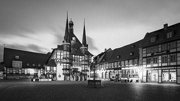 Gemeentehuis van Wernigerode in zwart-wit van Henk Meijer Photography