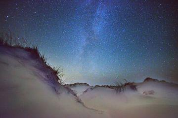 Melkweg in het gebied der levende duinen op Terschelling.