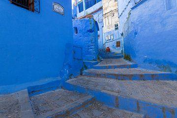 Traditionelle marokkanische Architekturdetails in Chefchaouen Marokko, Afrika. von Tjeerd Kruse