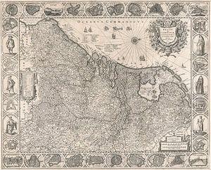 Kaart van de Nederlanden van omstreeks 1631