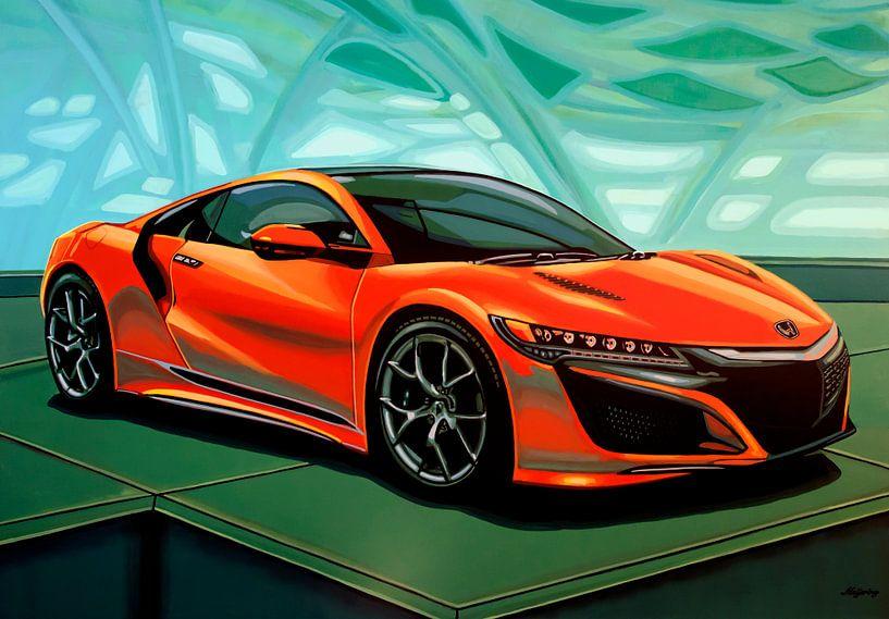 Honda Acura NSX 2016 Schilderij van Paul Meijering
