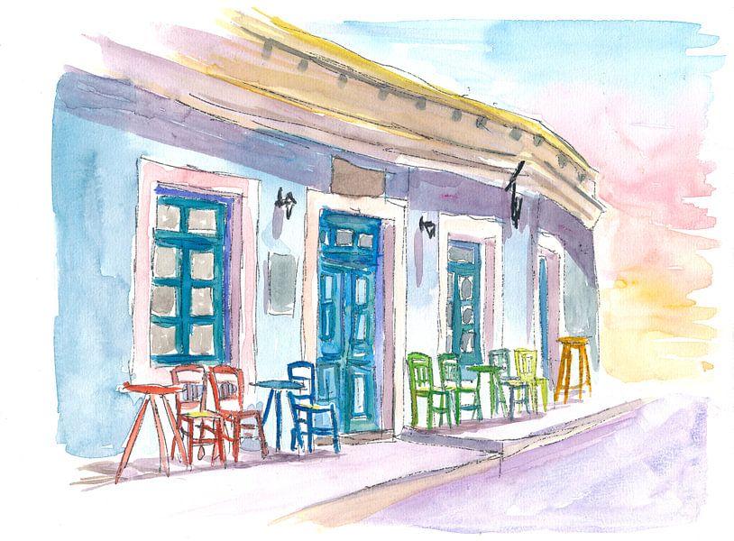 Restaurant Little Harbour Bar im malerischen Griechenland von Markus Bleichner