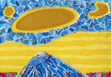 De blauwe berg van Godelieve Kunst