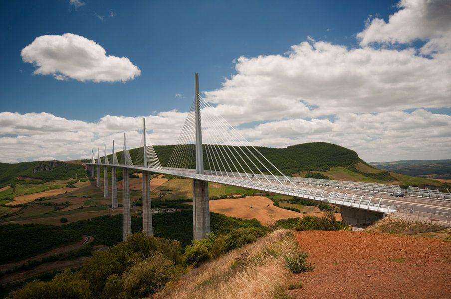 Het indrukwekkende viaduct van Millau