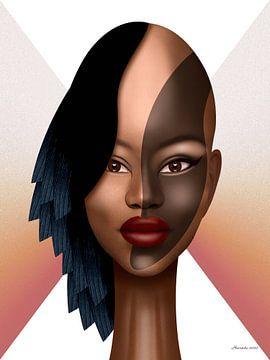 Afrikaanse Powervrouw (2) van Ton van Hummel (Alias HUVANTO)
