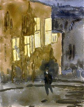 Straße bei Nacht, Meudon, Gwen John, 1910er Jahre