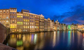 Amsterdam Damrak panorama van Rien van Bodegom