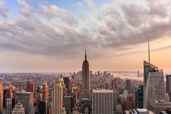 New York Sunset van Thomas Klinder