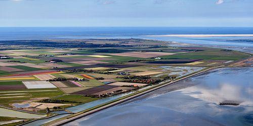 Digue nord Mer des Wadden sur Texel sur