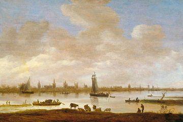 Flusslandschaft mit Blick auf Vianen, Jan van Goyen