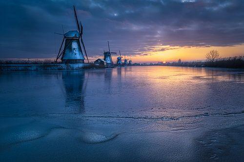 Kinderdijk - prachtige winter ochtend
