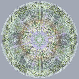 Kaleidoscoop, groen en grijs