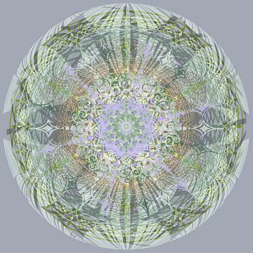 Kaleidoscoop, groen en grijs van Rietje Bulthuis