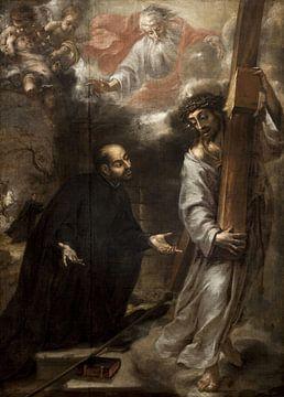 Das Erscheinen Christi dem Heiligen Ignatius in den Straßen Roms, Juan de Valdés Leal.