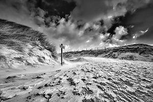 dramatisch landschap van de Hollandse kustlijn van
