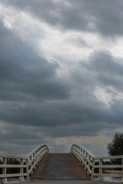Een bruggetje maar waar gaat het naar toe? van Erna Böhre