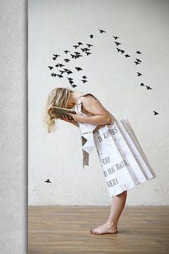 Vogelschwarm von Heike Hultsch