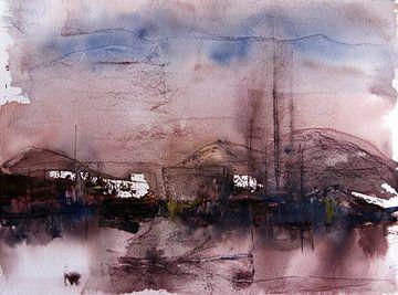 Paysage d'hiver avec des montagnes sur arte factum berlin