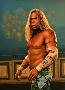 Mickey Rourke as The Wrestler Schilderij