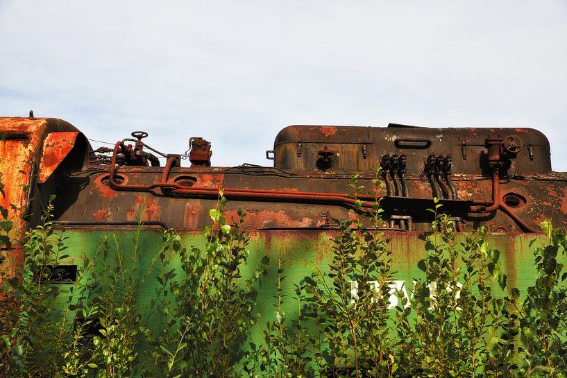 Vieux train rouillé sur Jan Brons