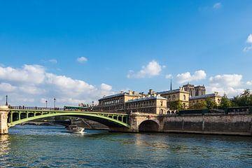 Uitzicht over de Seine in Parijs, Frankrijk van Rico Ködder