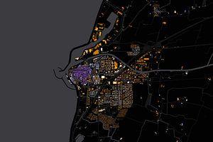Kaart van Harlingen abstract