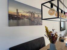 Kundenfoto: Rotterdam in der Dämmerung von Rob van der Teen, auf leinwand