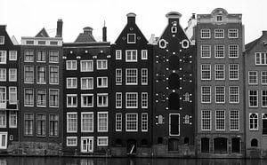 Gevels van grachtenpanden Amsterdam, panorama