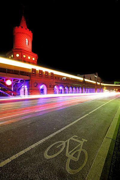 Oberbaumbrücke bij nacht van Frank Herrmann