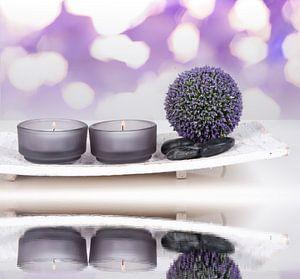 purple spa decor