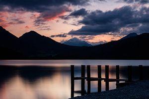 Sonnenuntergang am Heiterwanger See von