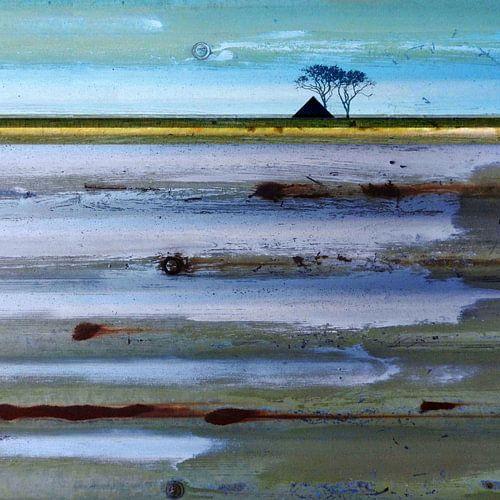 Tweeluik 01 RECHTER-deel Abstract Waddenlandschap