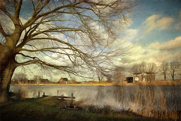 Aan de waterkant. van Annie Snel