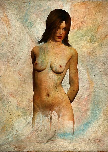 Erotisch naakt - naakt wachtend op iets van Jan Keteleer