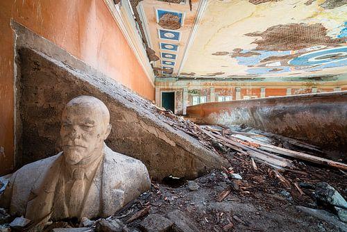 Verlassene Büste von Lenin.