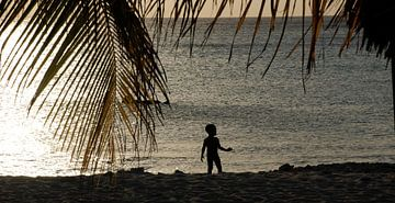Zonsondergang - Curacao van Carolina Vergoossen