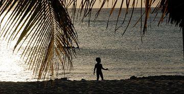 Zonsondergang - Curacao van