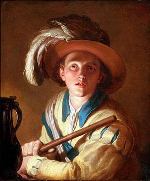 Abraham Bloemaert. Le joueur de flûte