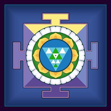 Shanti Yantra, een oud symbool van vrede, harmonie, stilte van de geest. van Paul Evdokimov