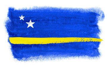 Symbolische nationale vlag van Curacao van Achim Prill