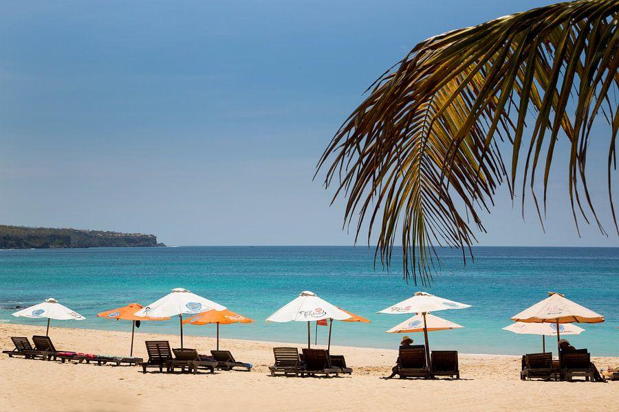 Dreamland Beach Bali Indonesië van Willem Vernes