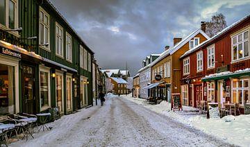 Bakklandet Trondheim, Noorwegen van Adelheid Smitt