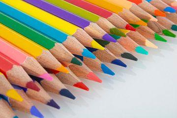 Gekleurde potloden van Rutmer Visser