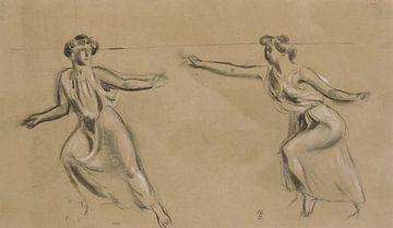 Zwei nach links laufende Frauen, Maurice Denis