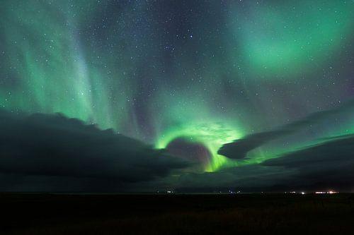 Aurora Borealis in IJsland van Frits Hendriks