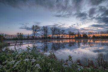 De steiger in het meer van Moetwil en van Dijk - Fotografie