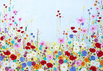 Malerei Blumenfeld von Bianca ter Riet