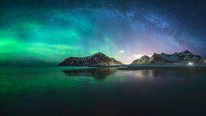 Nordlichter und Milchstraße